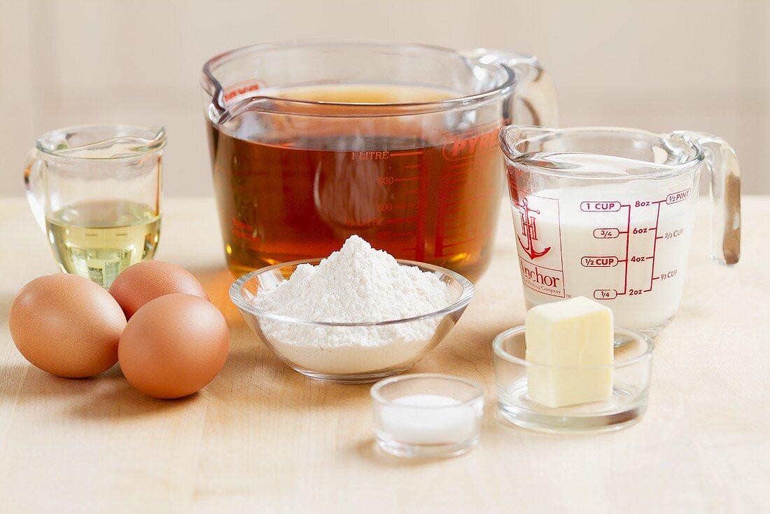 Ingredients for pancake soup