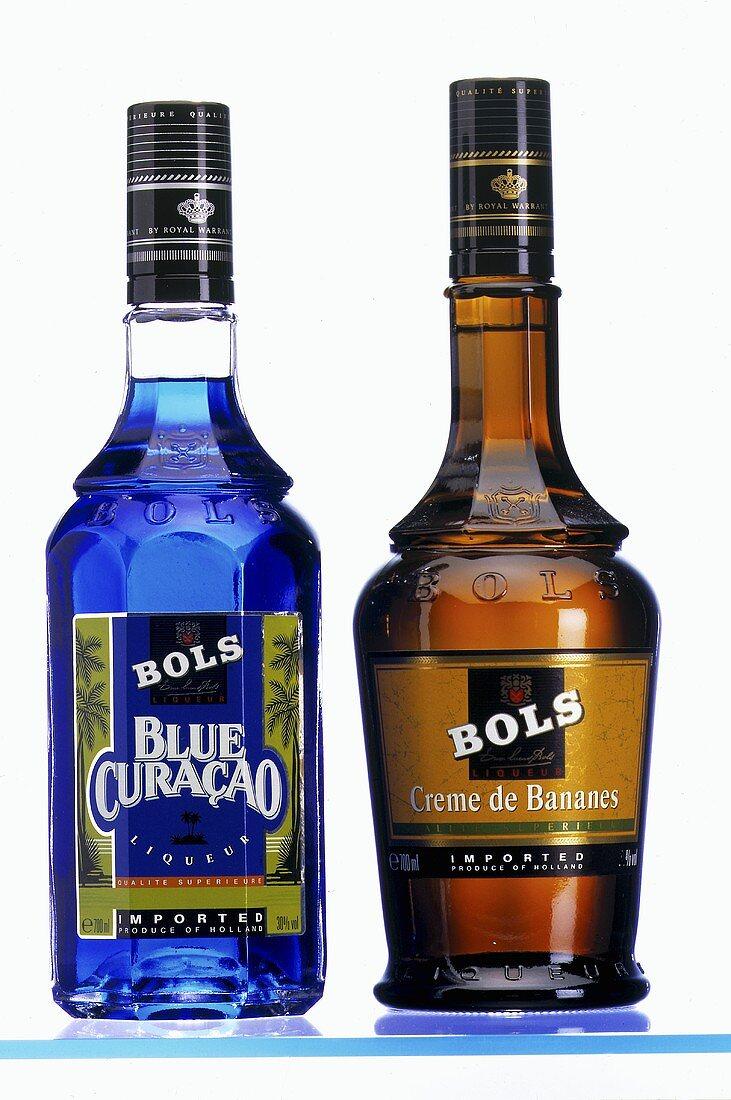 Blue Curacao & Creme de Bananes