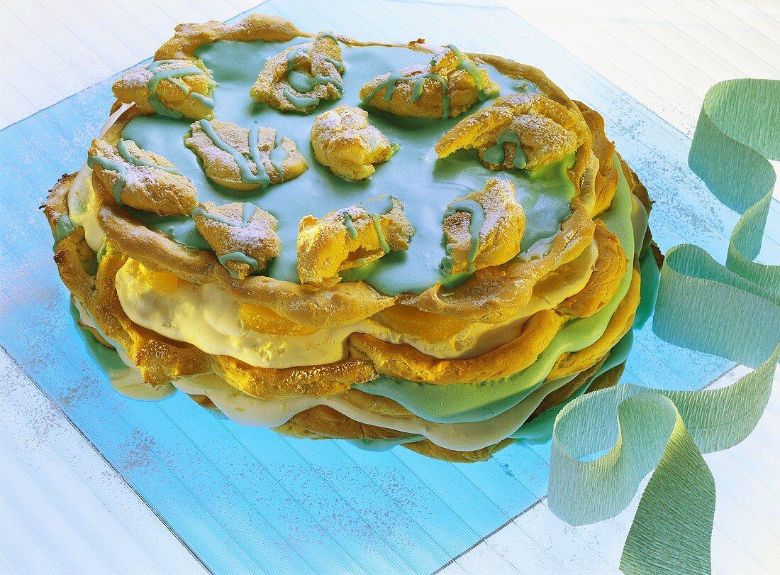 Blue cloud cake for Aquarius