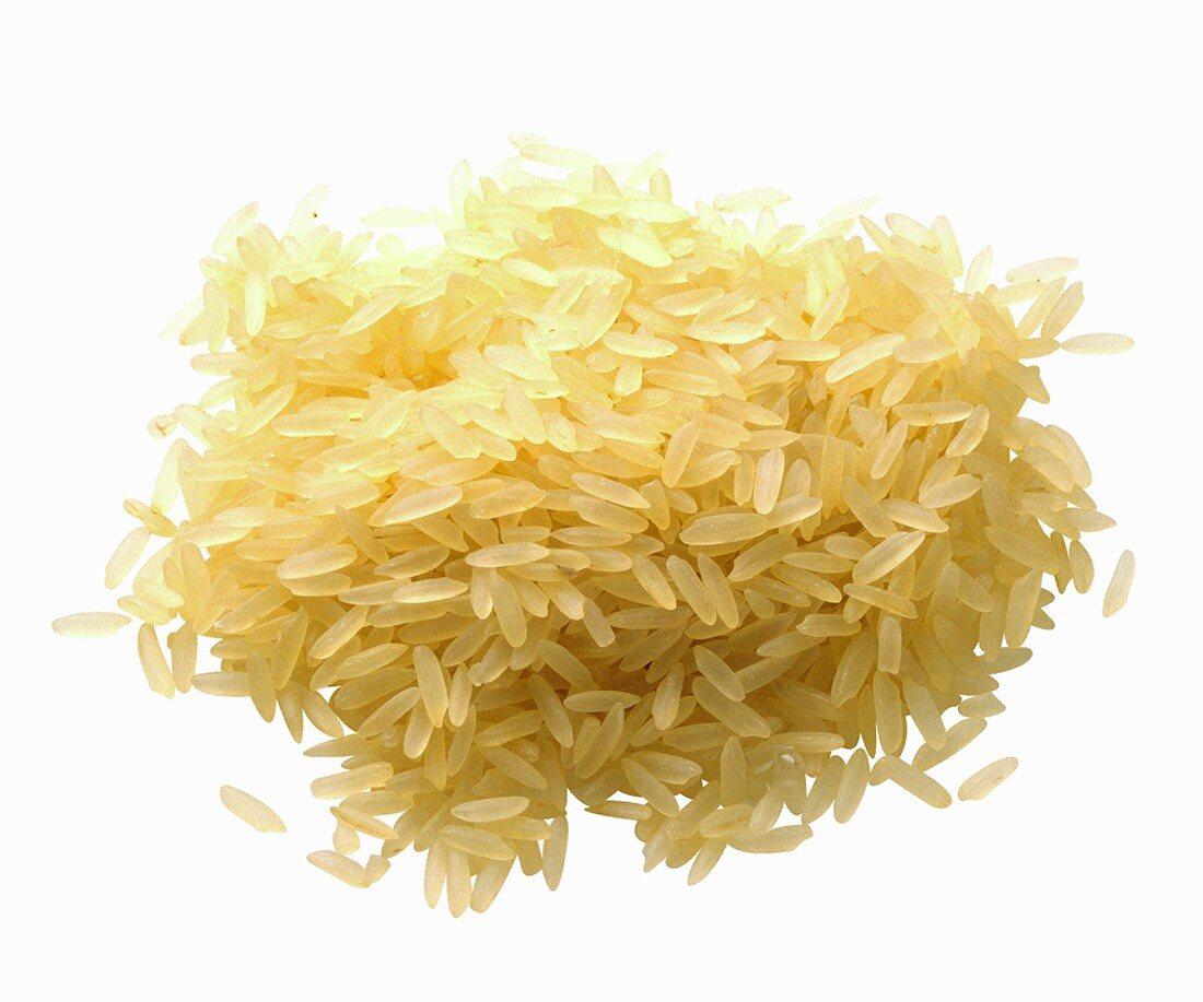 Pile of Long Grain Rice