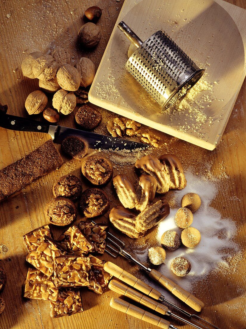 Christmas baking with nuts