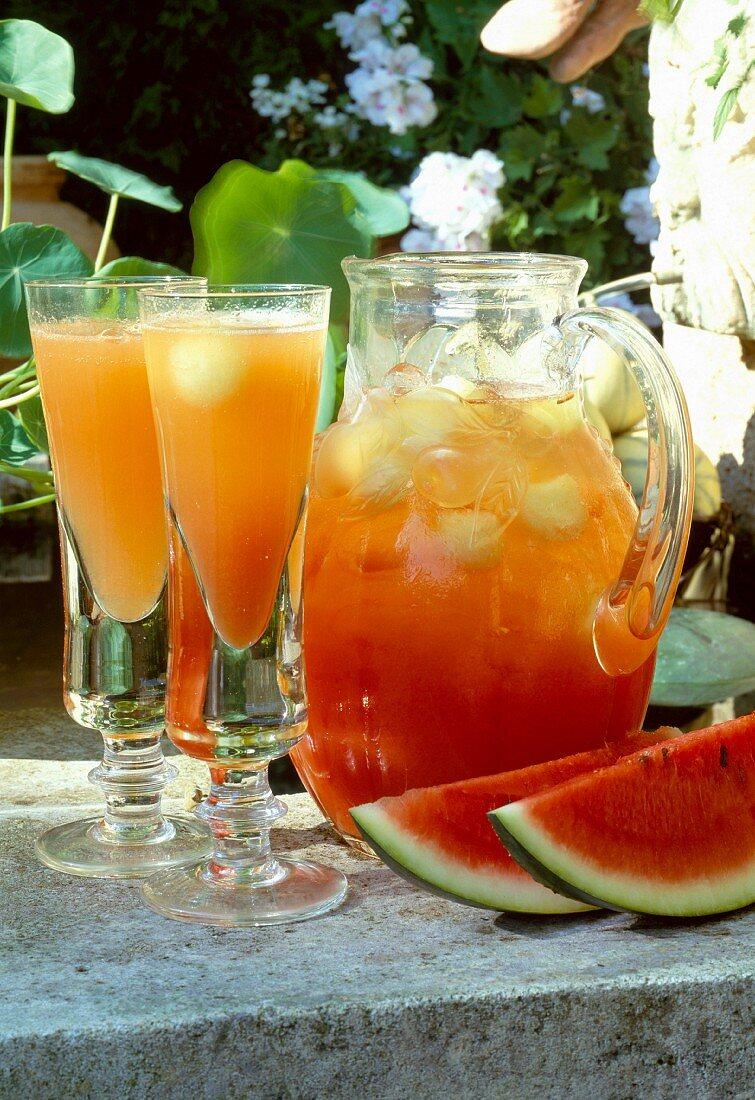 three melon cocktail