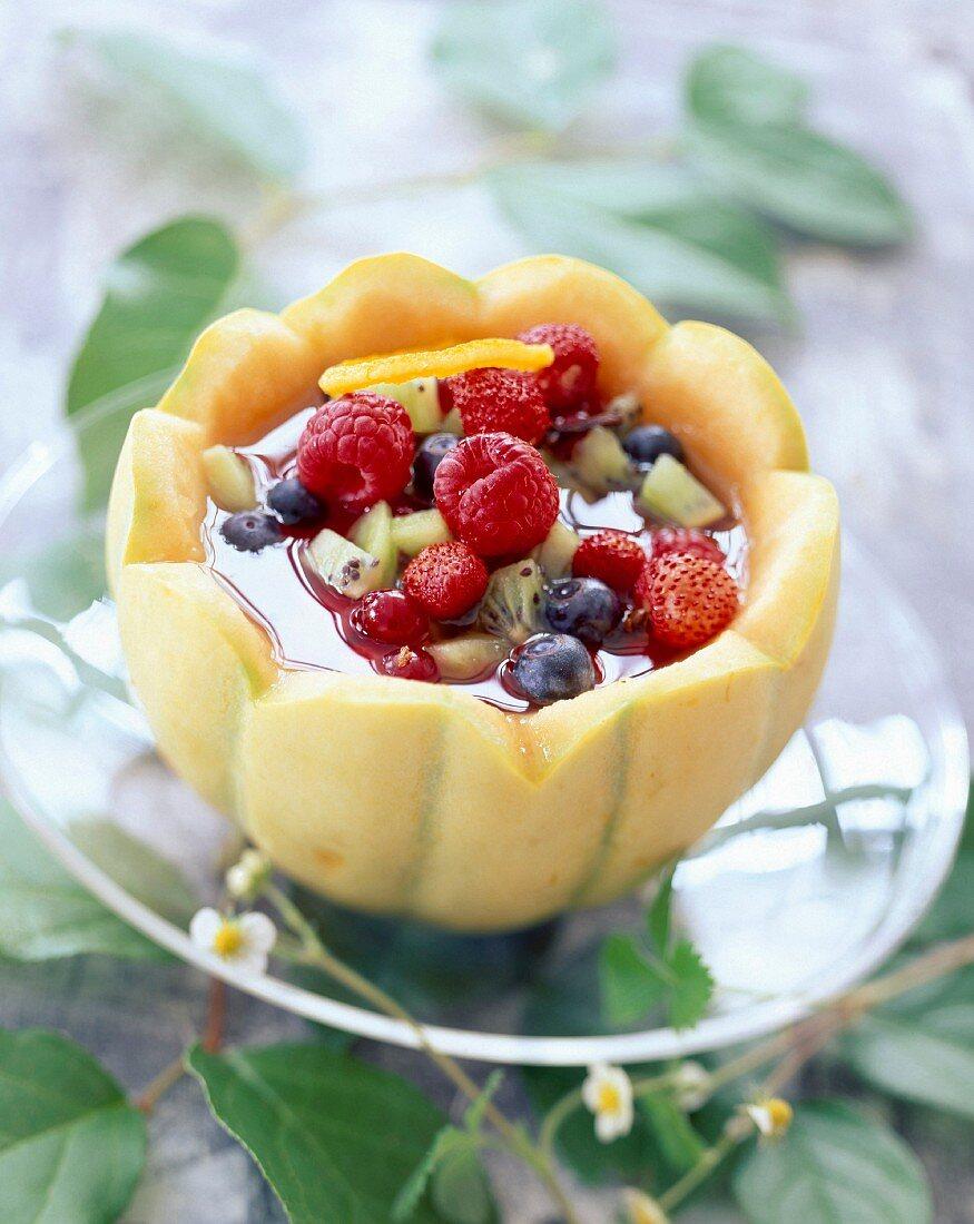 Chilled summer fruit soup