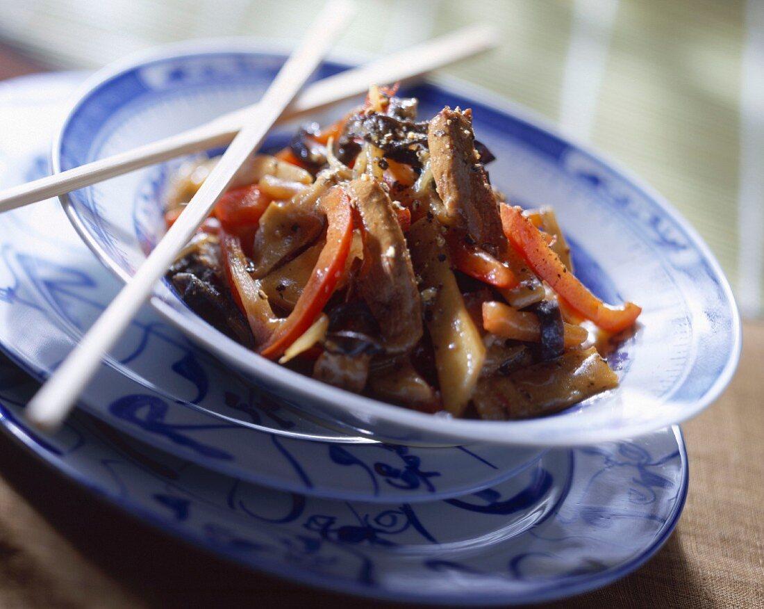 Sauteed pork and bamboo shoots