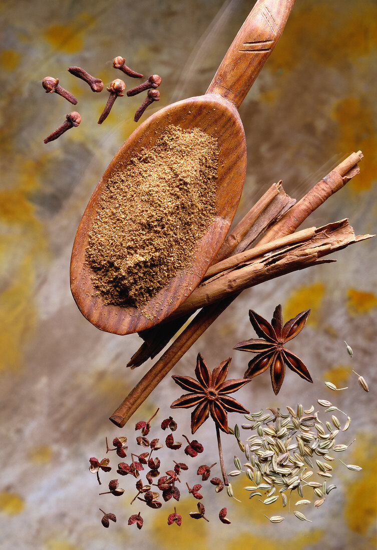 Selection of five spices