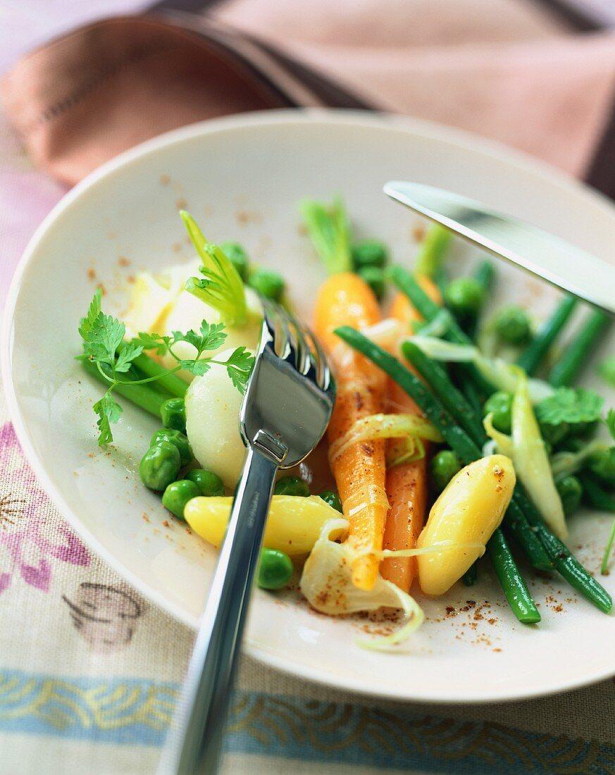 Butter fried vegetables