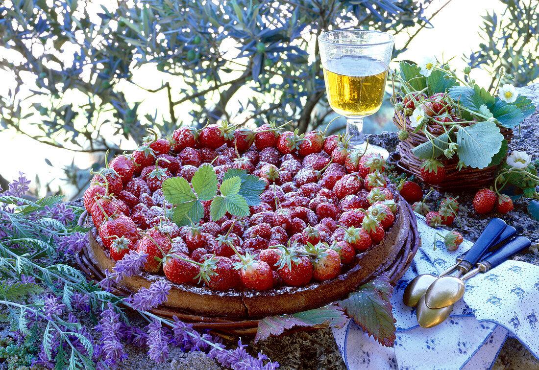 Ducasse strawberry tart with almond cream