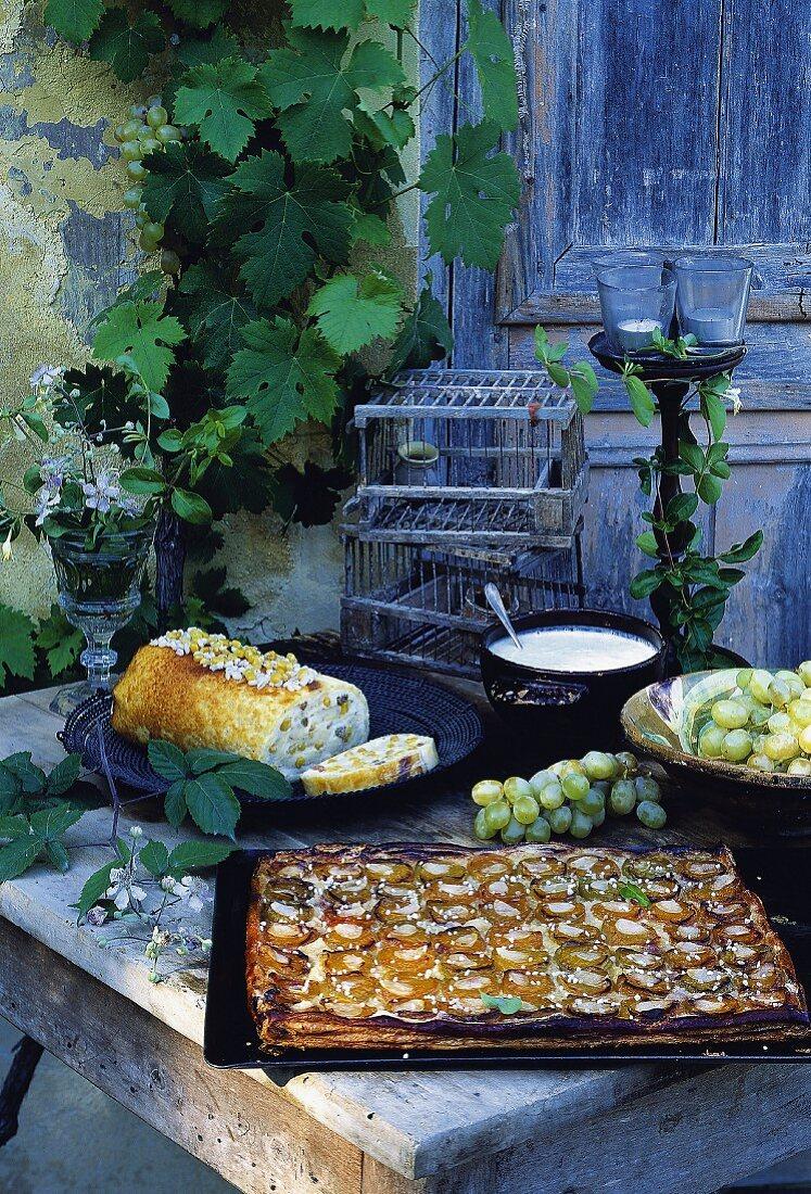 Milassou caramelized apricot and brandy tart