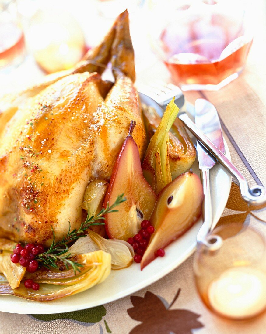 Chicken with pears