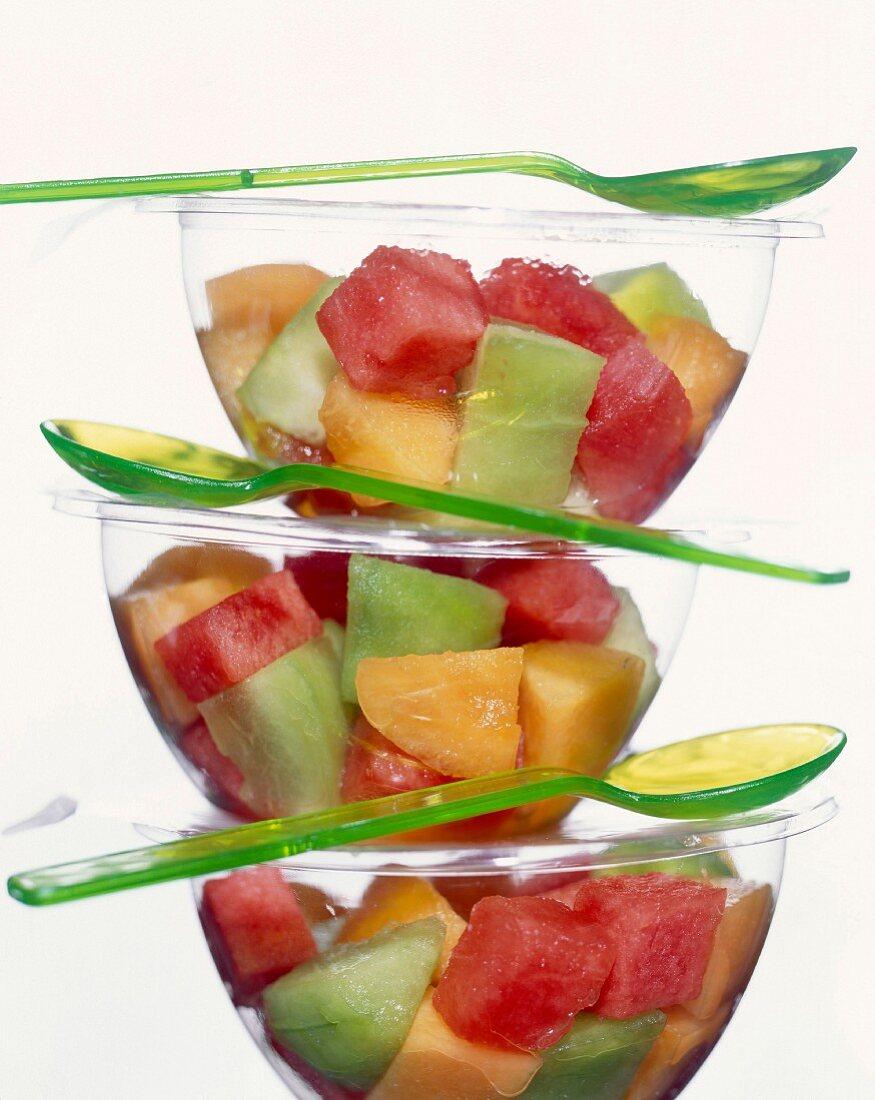 Melon and watermelon salad