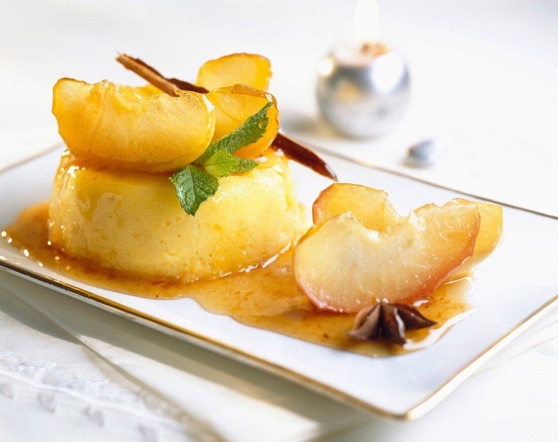 Stewed apple flan