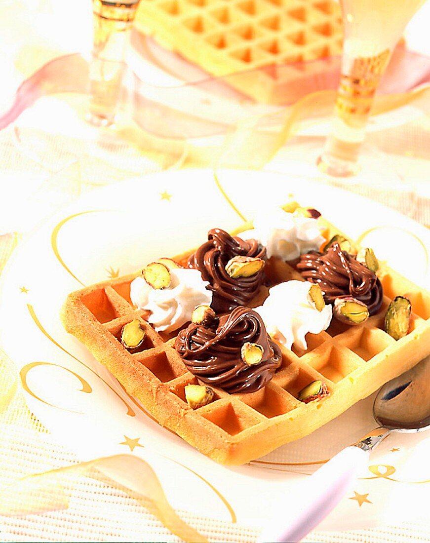 A Harlequin waffle