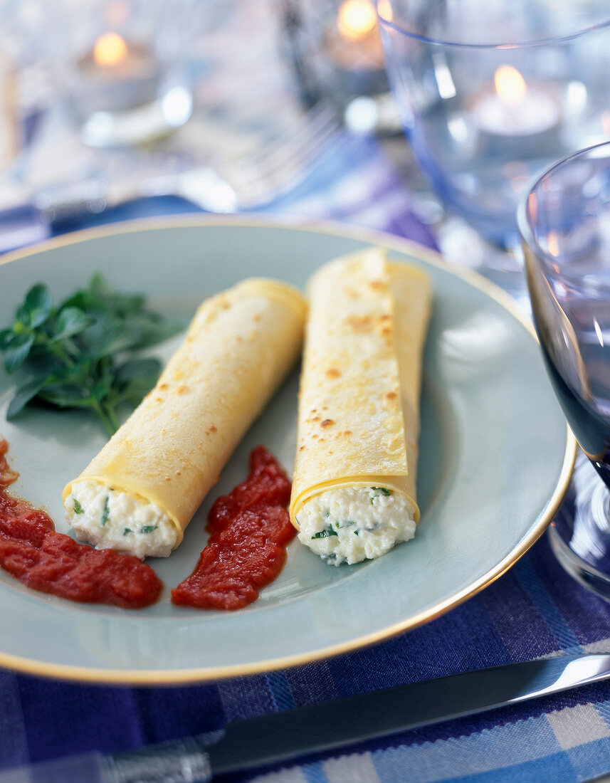 Cannelloni stuffed with brocciu
