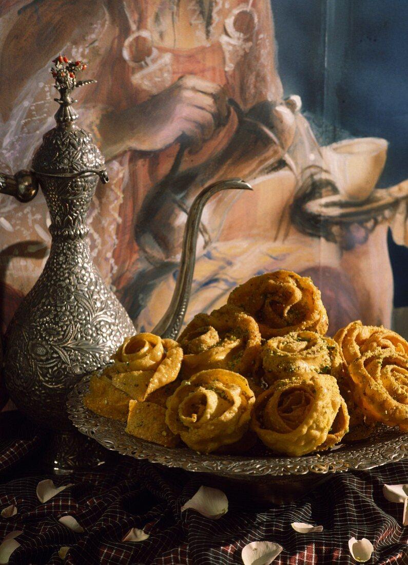 Round Tunisian honey cakes
