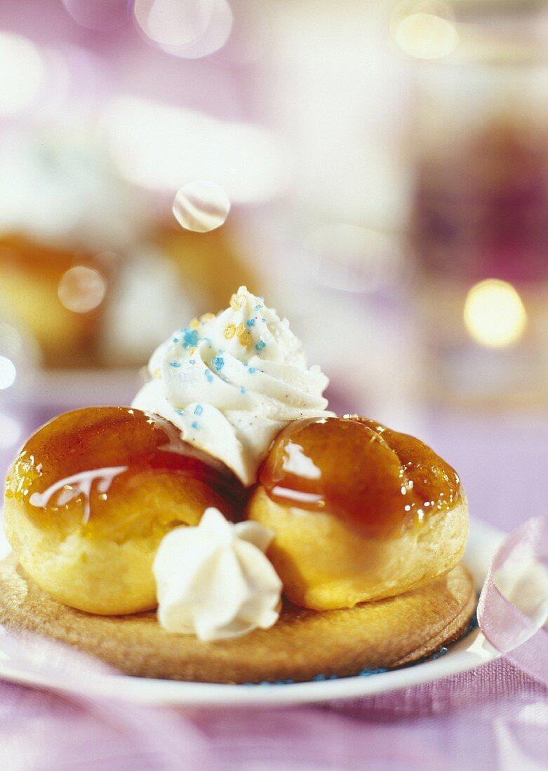 Saint Honoré chou cream cake