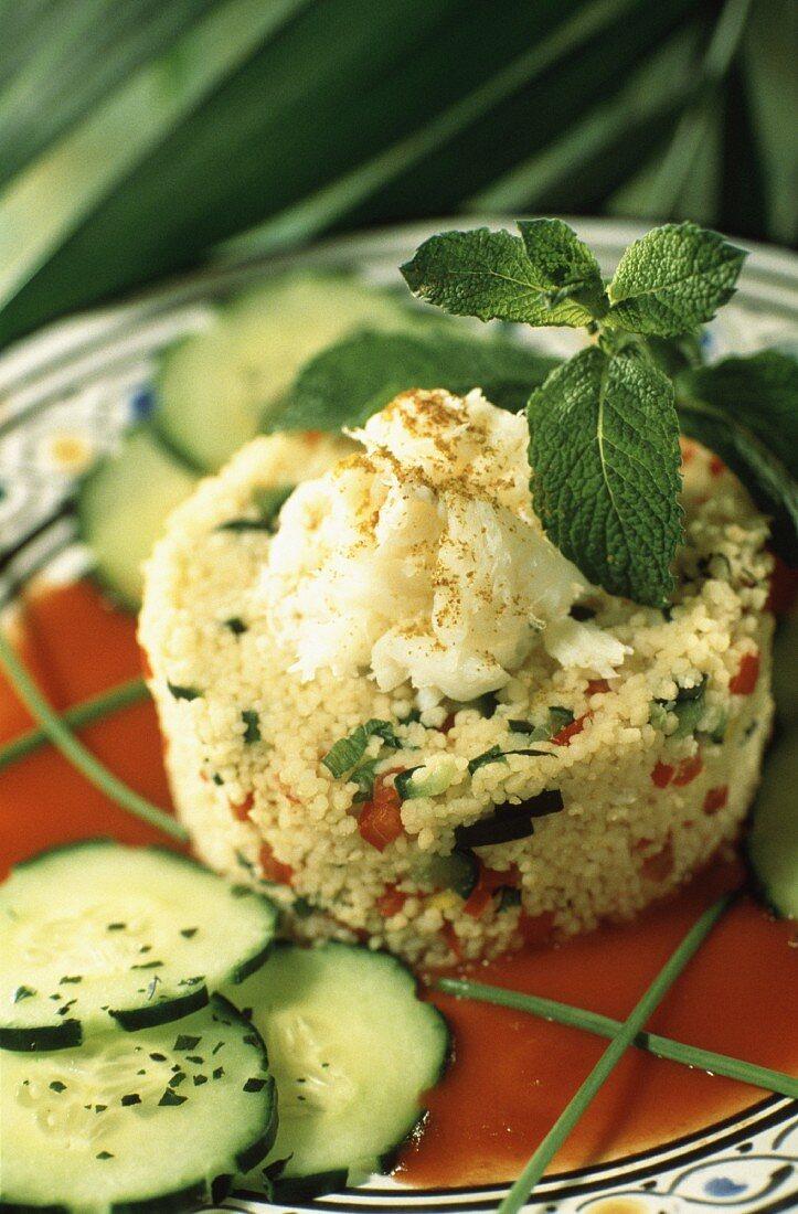 Crab taboule salad