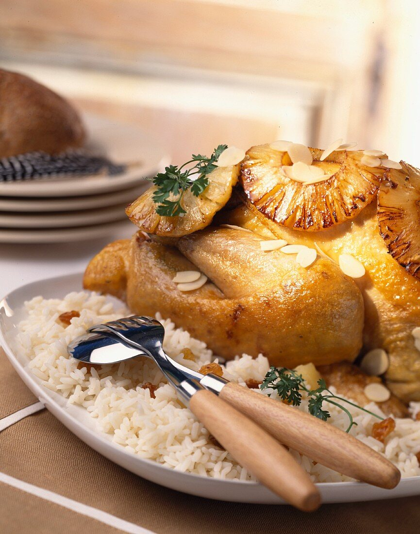 Creole chicken with pineapple