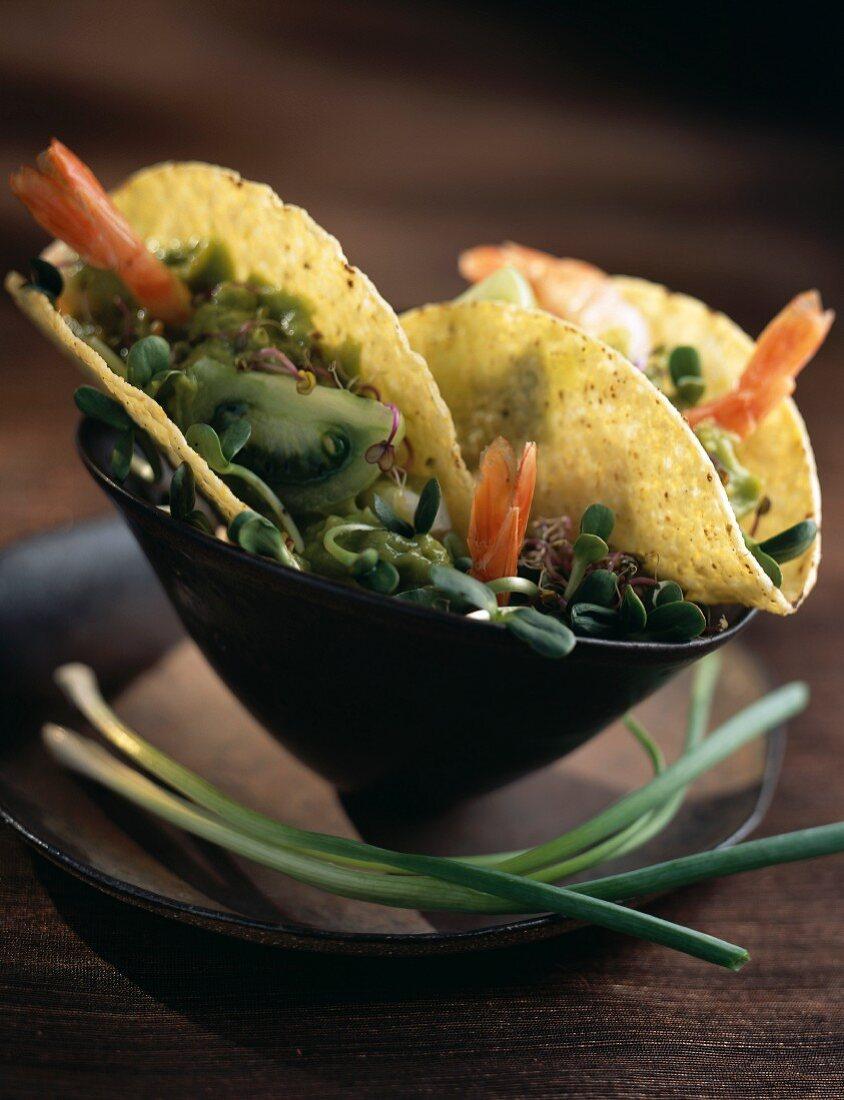 Vegetable and shellfish Tortillas