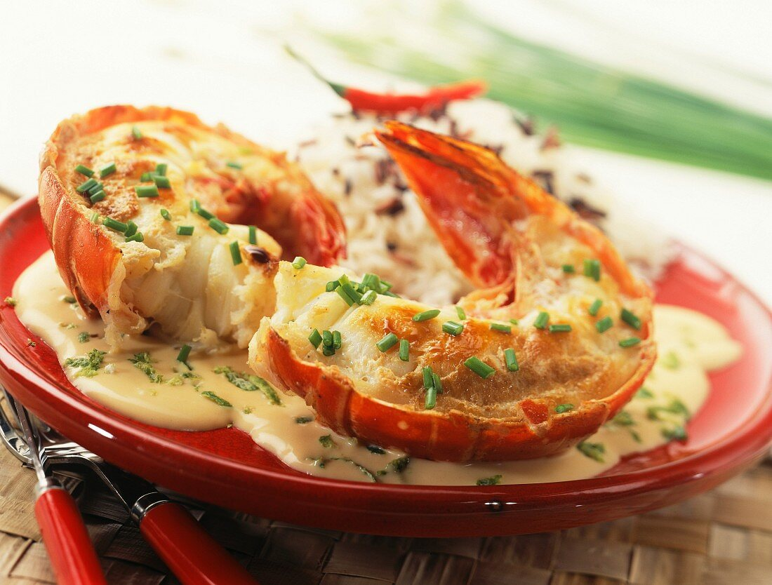 Roast spiny lobster tails
