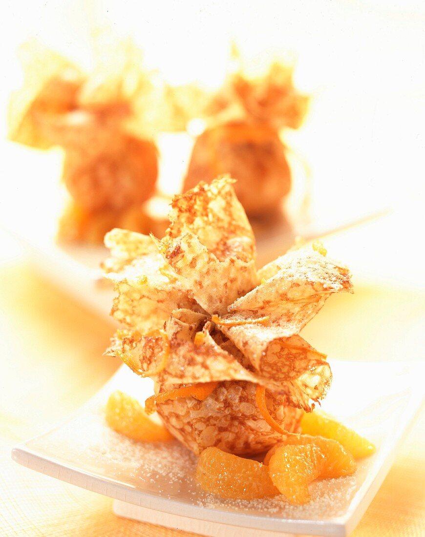 Citrus fruit pastry parcel desserts