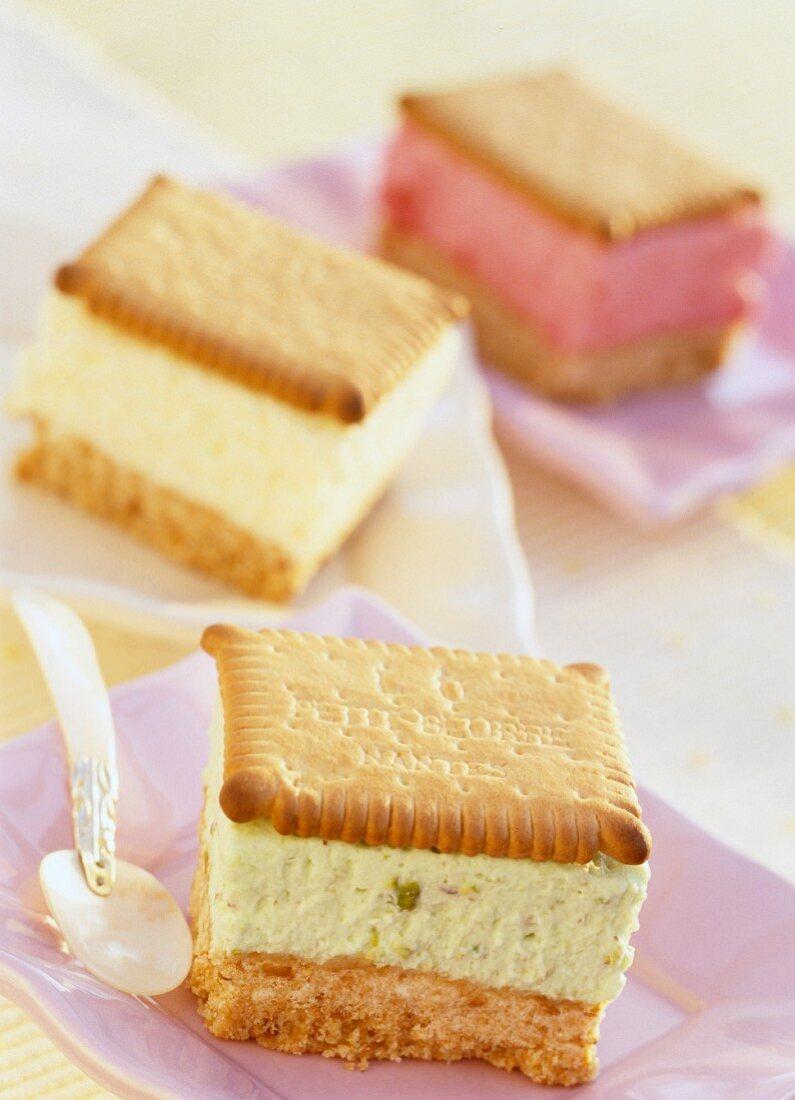 Neapolitan biscuit dessert