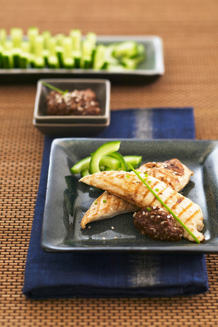 Japanese-style grilled chicken