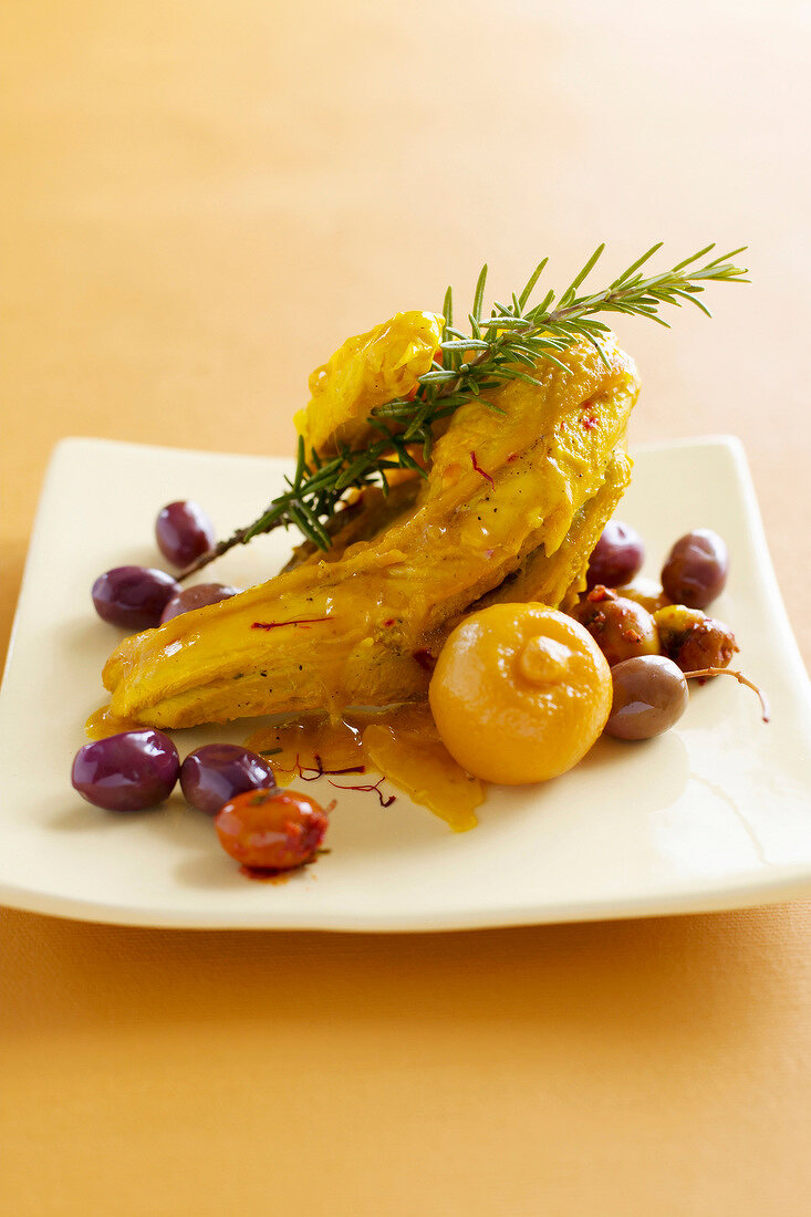 Chicken,olive and lemon tajine