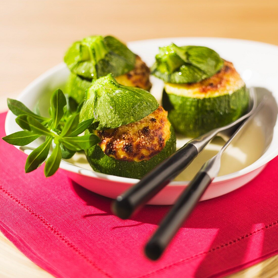 Courgettes stuffed with brocciu