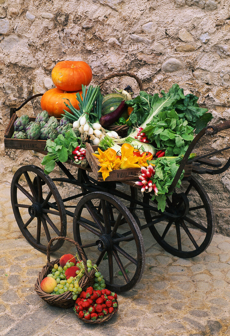 fruit and vegetable cart