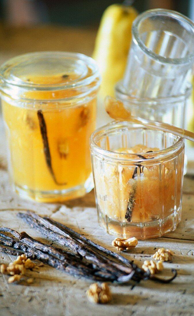 Pear and vanilla jam