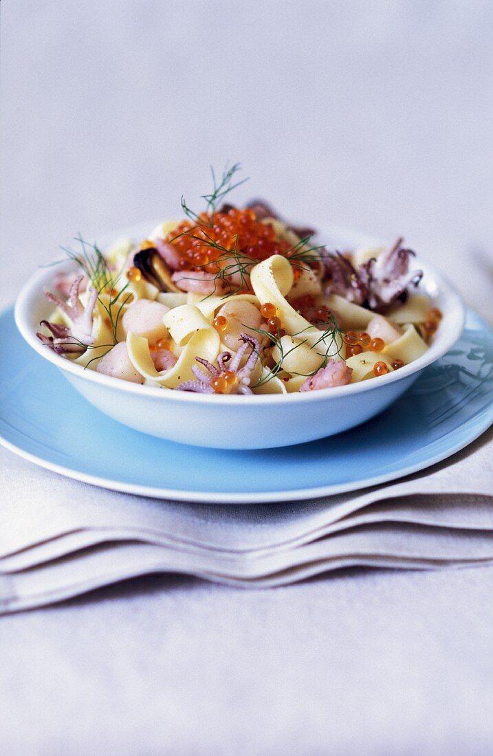 Tagliatelle with sea food