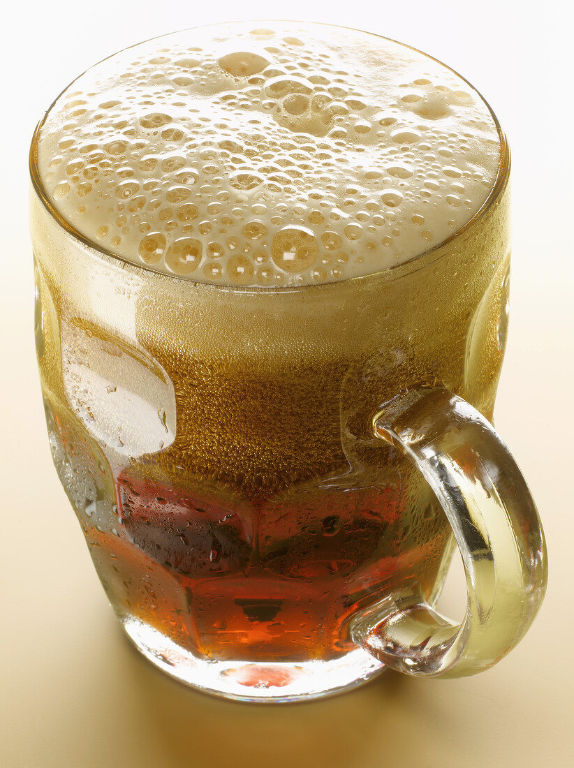 Pint of brown ale