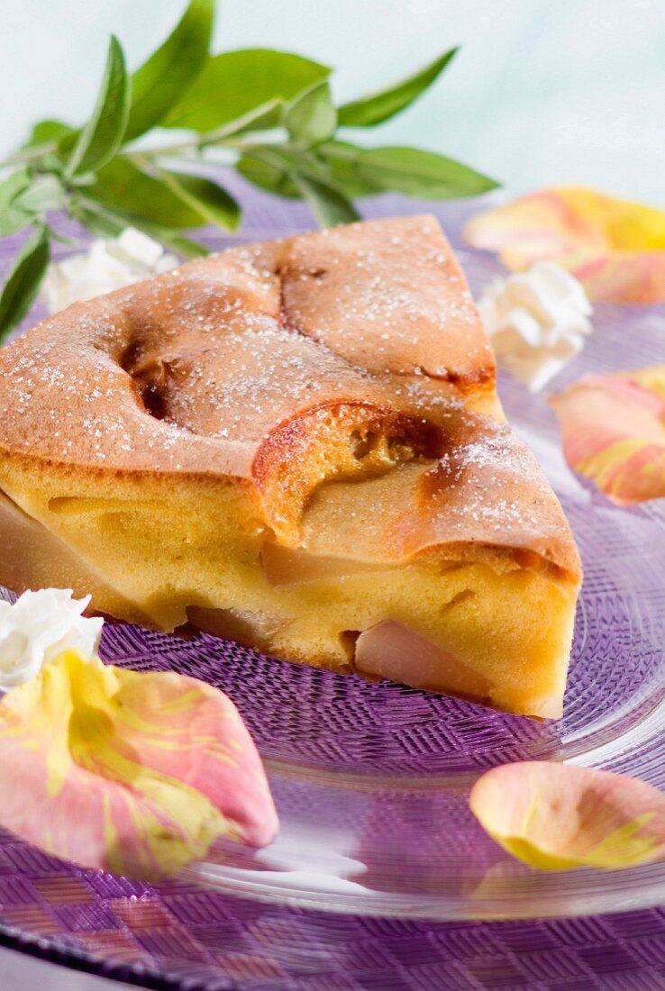 Juicy pear cake
