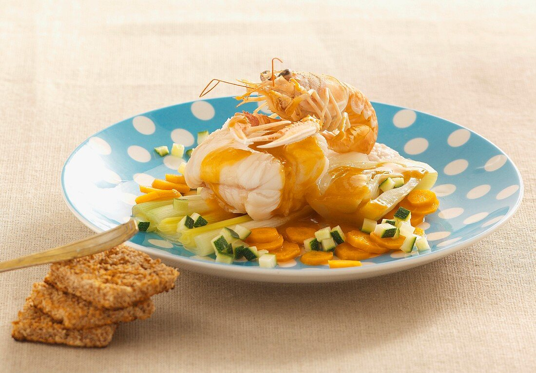 Fish stew with rouille (spicy garlic mayonnaise)