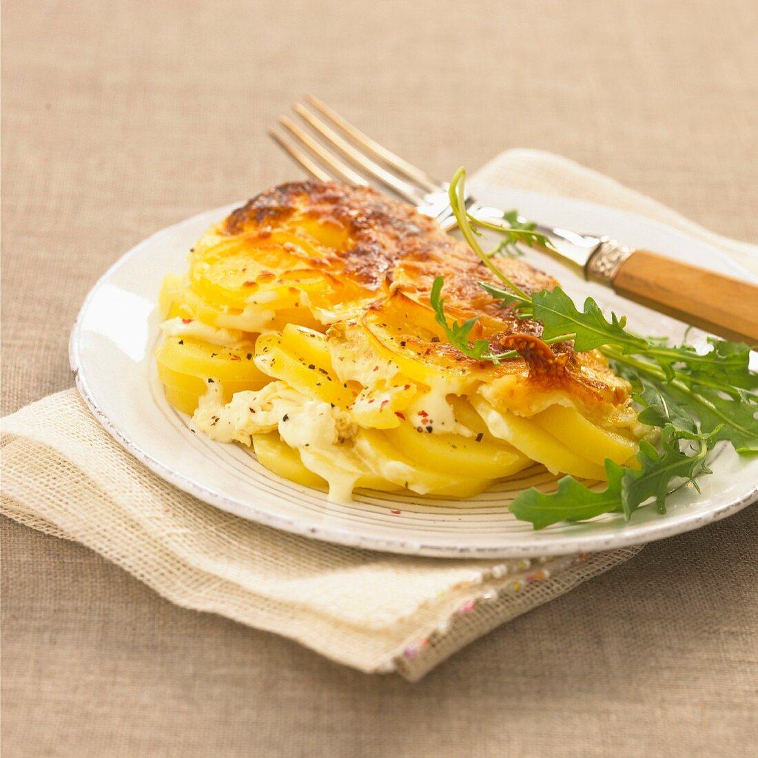 Gratin dauphinois (traditional potato gratin, France)