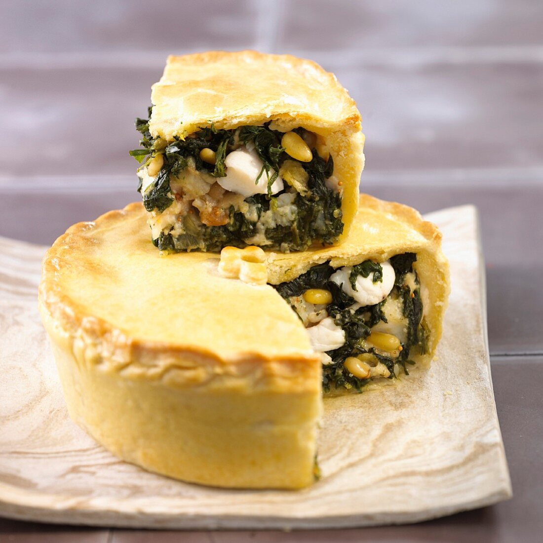 Monk fish and spinach pie