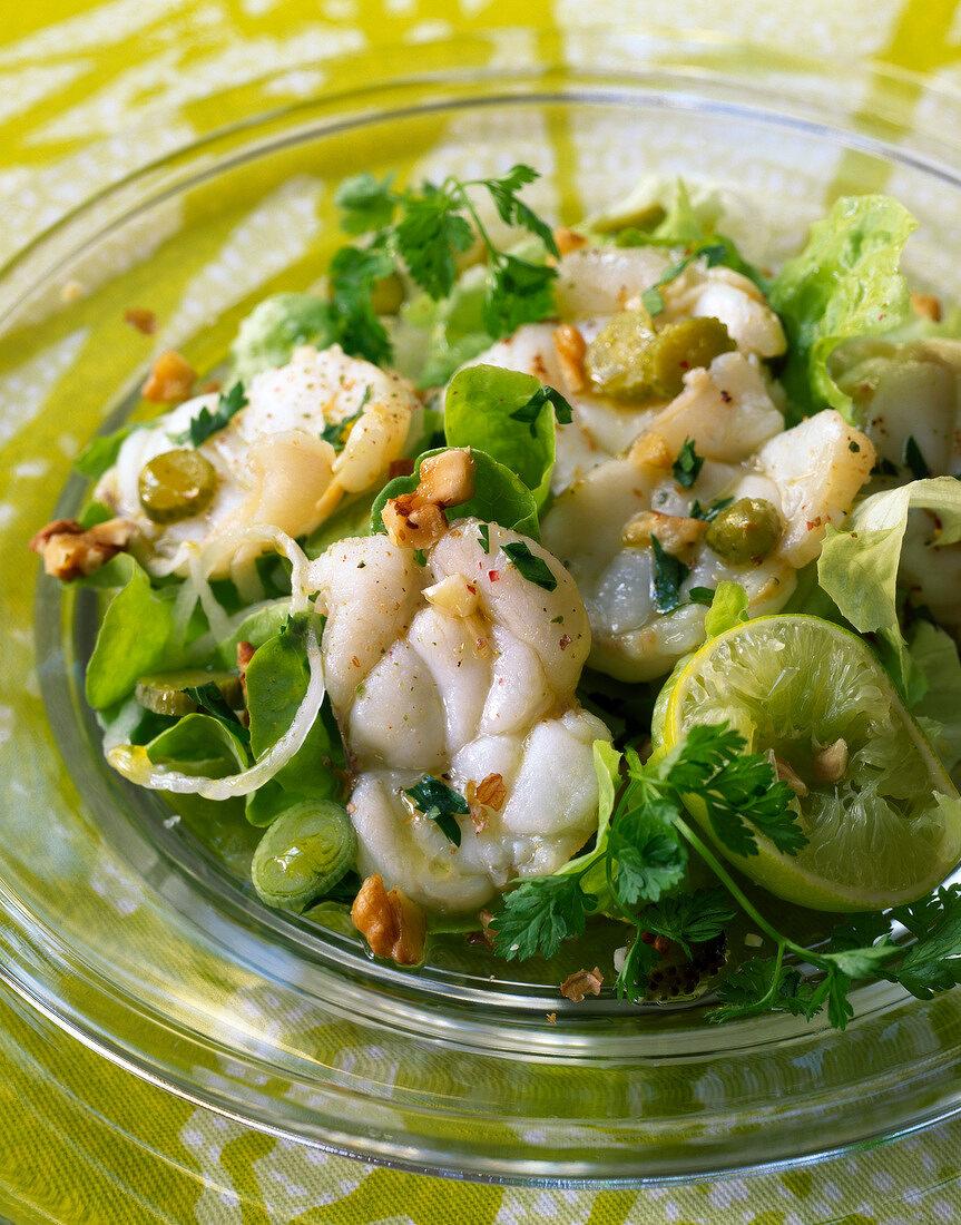 Monkfish salad