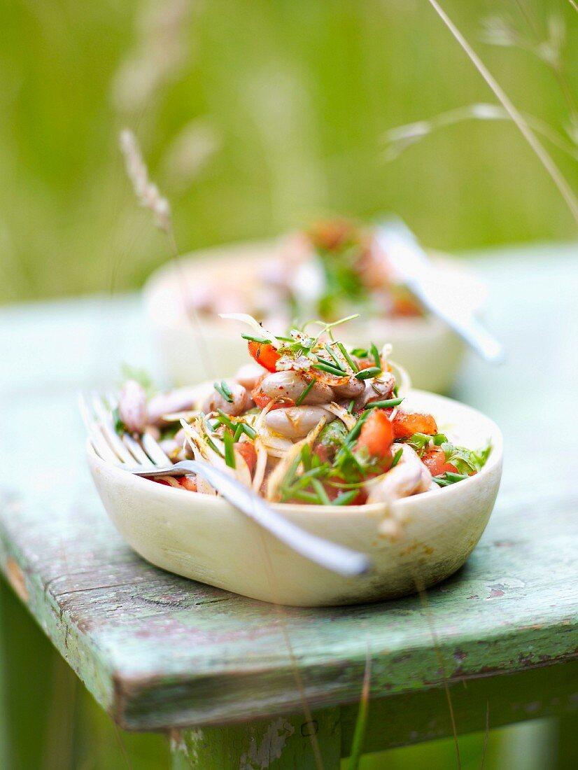 Fresh salad in the garden
