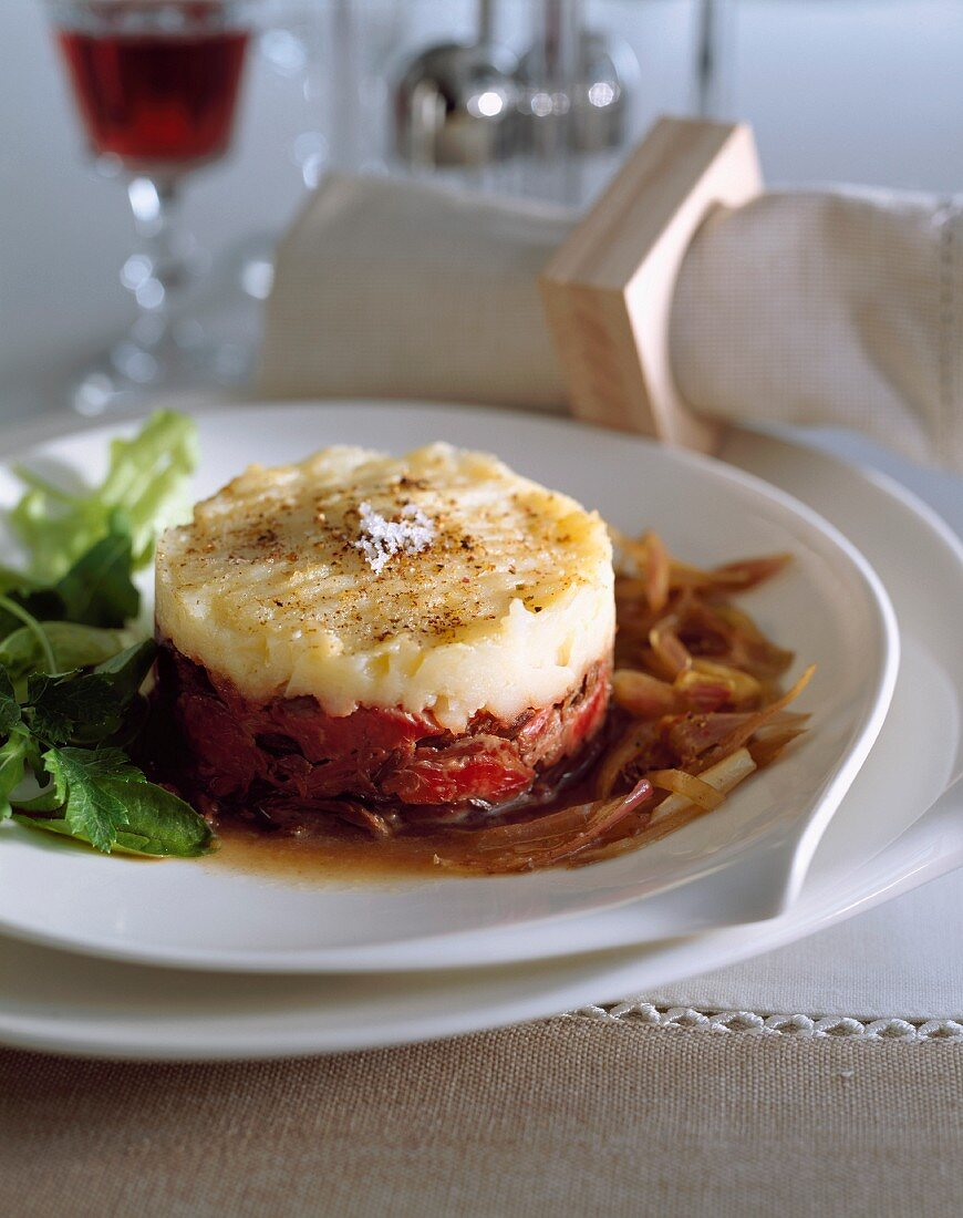 Flank and shallot Parmentier