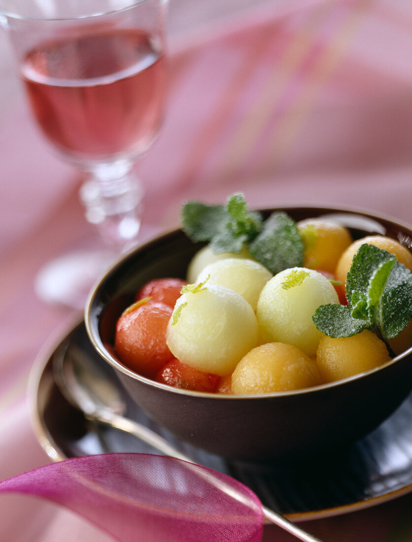 4 melon fruit salad
