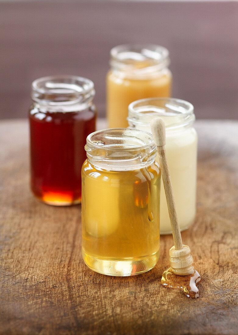 Acacia honey,clover honey,chestnut honey and lime honey