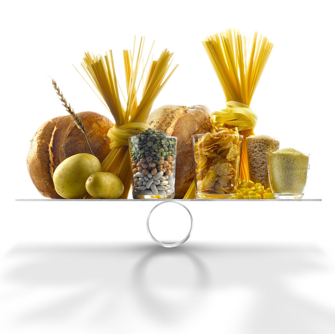 Selection of products with a high level of carbohydrates on scales