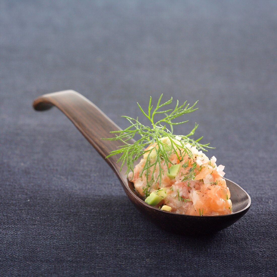 Salmon, avocado and tomato tartare