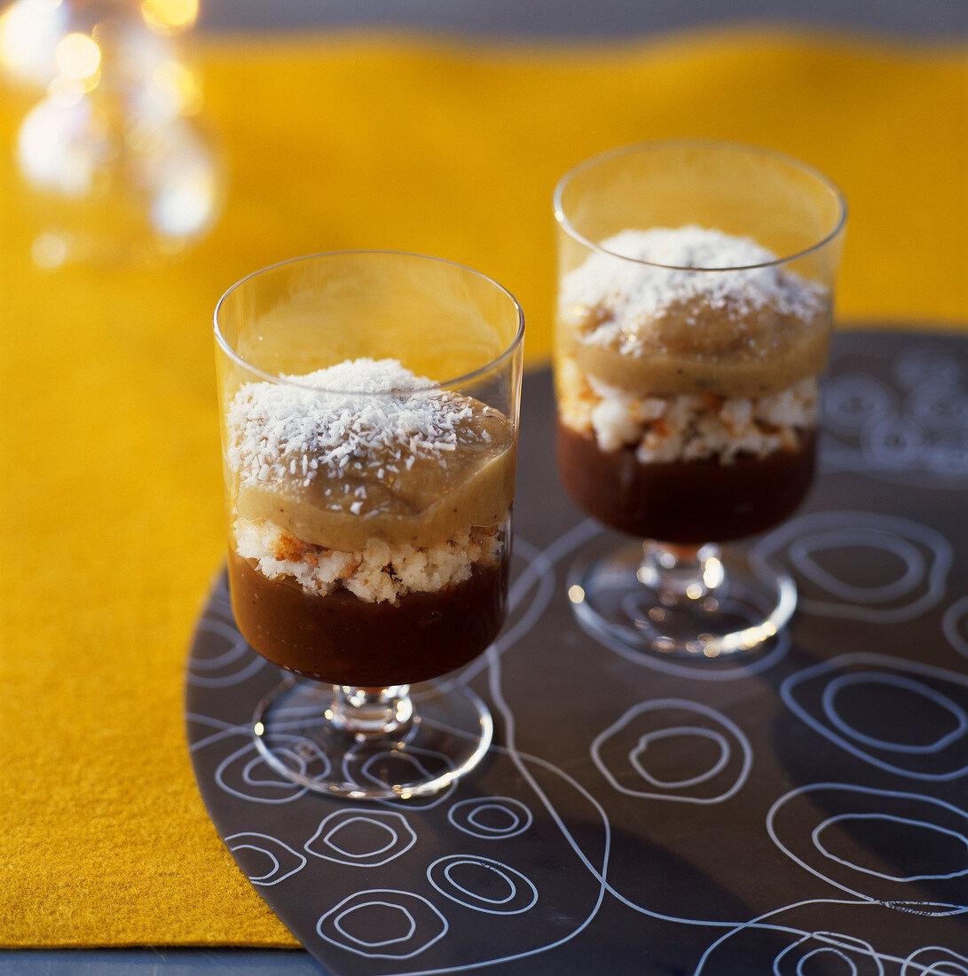 Creole chestnut fancy dessert