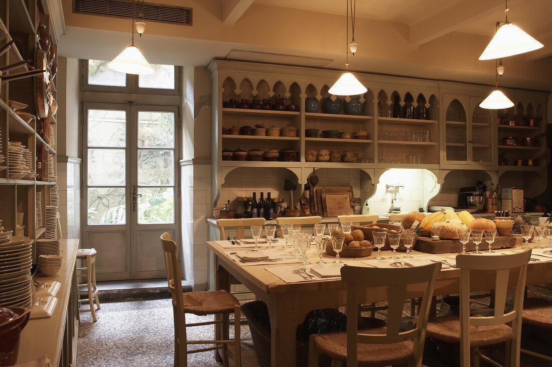 Cooking school at the Hotel La Mirande, Avignon