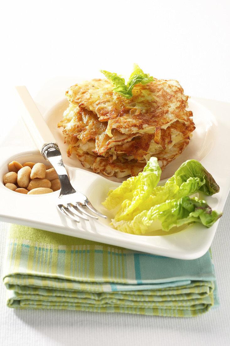 Touquet Ratte potato, celery and peanut Paillassons