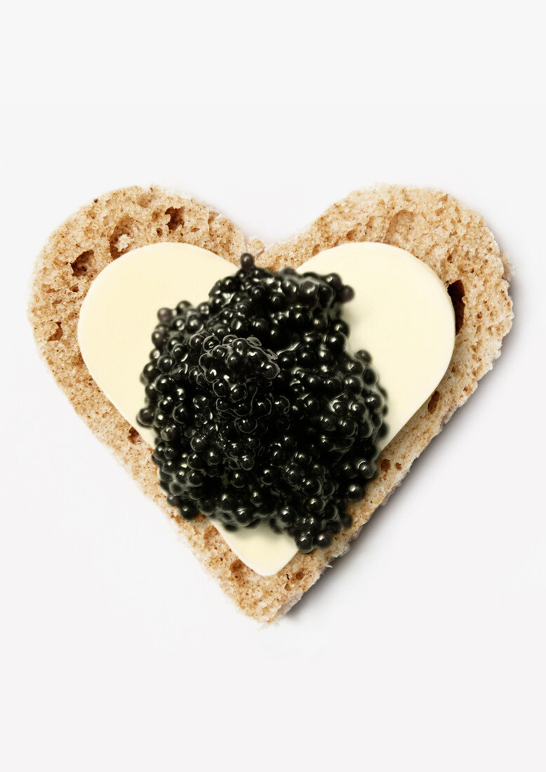 Bread,butter and caviar heart