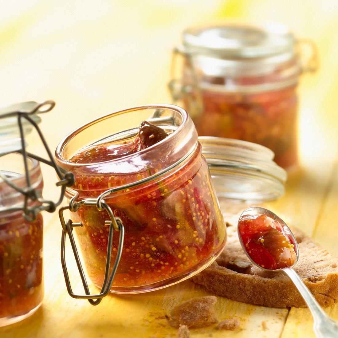 Fig,honey and bay leaf jam
