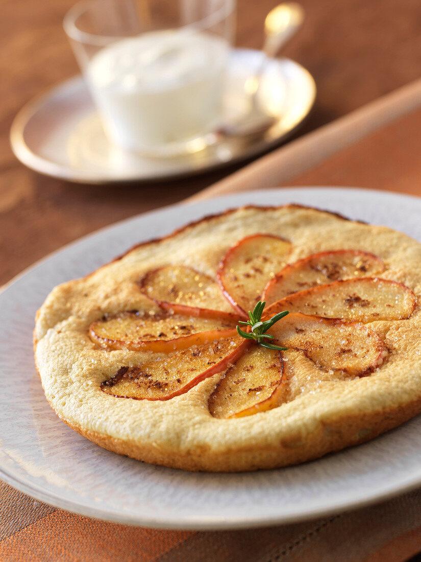 Apple omelette soufflée