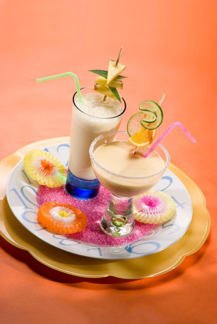 Orange, coconut and honey smoothie, appetite suppresant milk shake